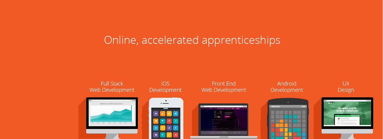 Header Graphic for Bloc - online immersive and accelerated apprenticeships
