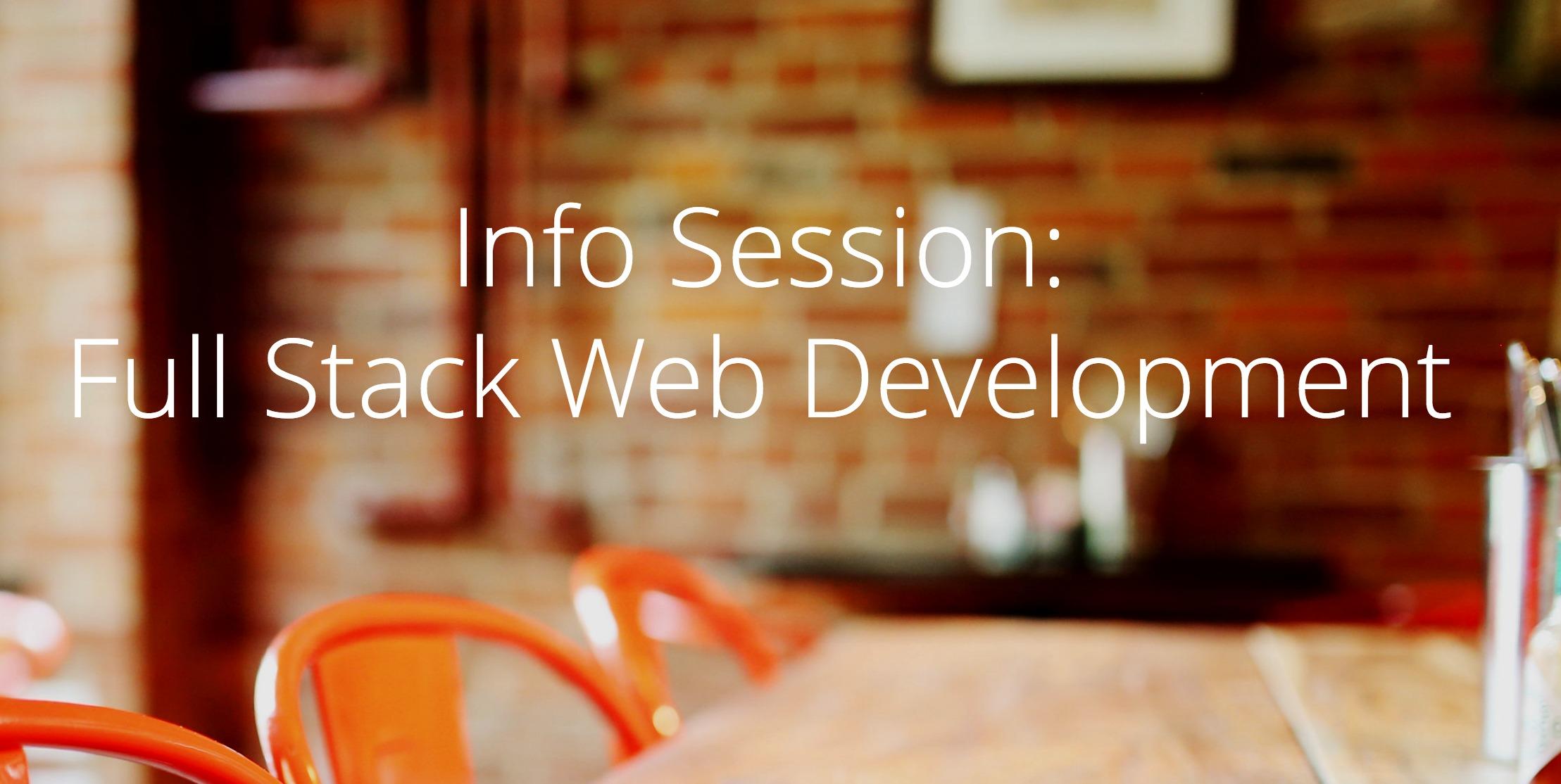 Info Session Full Stack Web Dev